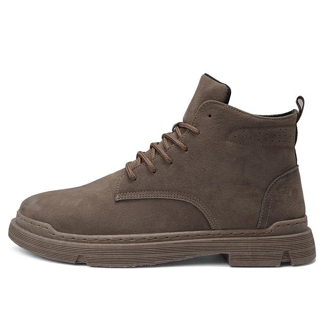 حذاء رجالي موضة شتاء دافئ الرجال أحذية الخريف أحذية جلدية للرجل جديد عالية الجودة قماش رجالي حذاء كاجوال أحذية رياضية رجالي