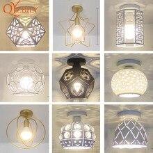 천장 조명 철 램프 금속 침대 자료 LED 조명 E27for 거실 실내 로프트 홈 조명 표면 장착 조류 램프 금속