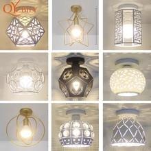 Lampy sufitowe lampa z żelaza metalowa podstawa łóżka LED light e27 do salonu kryty Loft oświetlenie domu montowane na powierzchni lampa ptak metal
