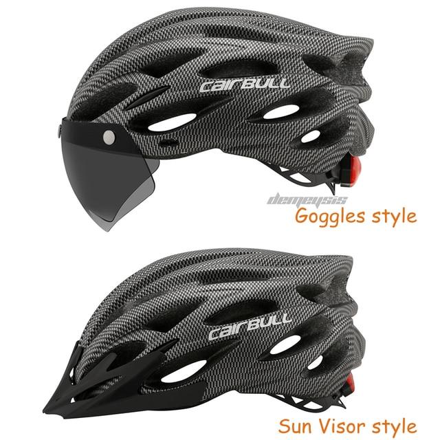 Cairbull ultraleve ciclismo capacete com removível viseira óculos de bicicleta rolos equitação capacetes da motocicleta capacete de proteção 5