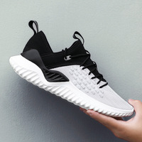 Spring Autumn Fly Weave Men Casual Shoes Sneakers Male Breathable Lace Up Chaussure Shoes Sneaker Men Tenis Footwear D8 42
