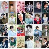 Álbum de fotos ASTRO coreano KPOP de 16 Uds. Papel hecho a sí mismo Lomo tarjeta Tarjeta de foto ventiladores regalo colección papelería Set KPOP pegatinas