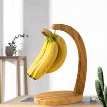 Деревянная Бамбуковая вешалка с подставкой для банана, кухонная столешница для винограда