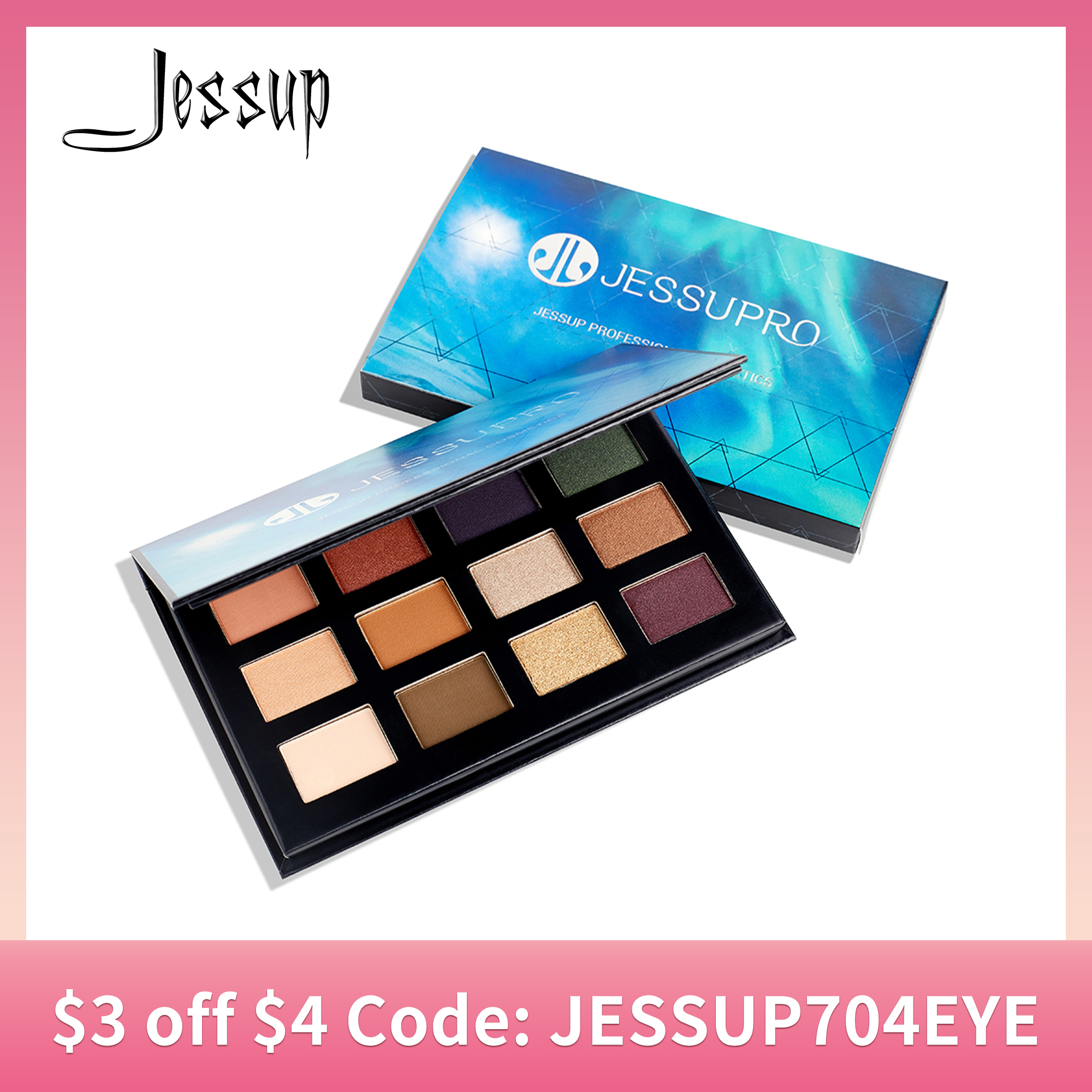 Jessup 12 colors Makeup Eyeshadow Palette Brighten Glitter Natural Shimmer Pigment Eye Shadow Palettes branded|Eye Shadow| - AliExpress