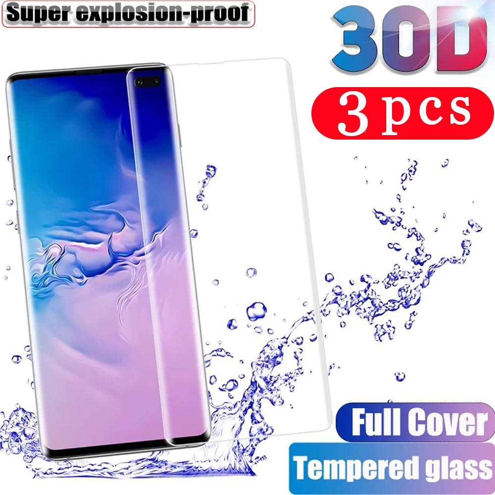Закаленное стекло для Samsung Galaxy s8 s9 plus s10 lite s10e s20 FE note 20 Ultra 8 9 10 s7 edge, Защитная пленка для экрана телефона, 3 шт. Защитные стёкла и плёнки для телефонов      АлиЭкспресс
