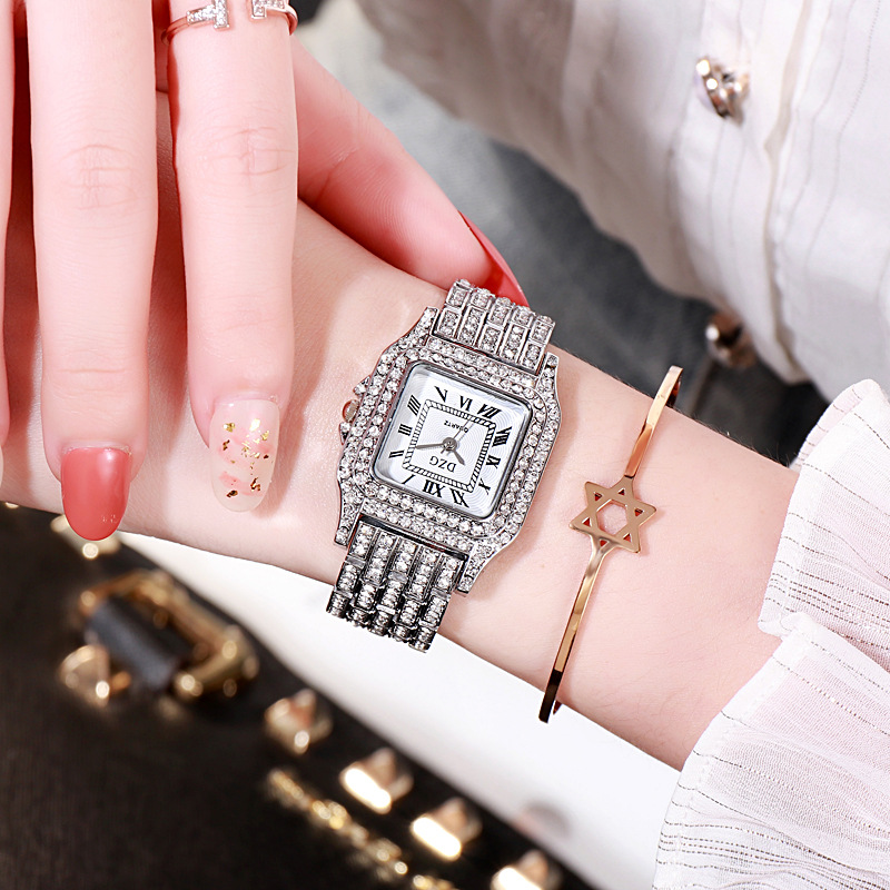 2020 new square wristwatch water diamond women's watch fashion student watch high grade alloy quatz watch 3