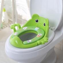 купить Baby Potty Toilet Trainer Potty Training Toilet Handle Backrest Toddlers Anti-Slip Toilet Training Seat Reusable Baby Potty Pad по цене 782.74 рублей