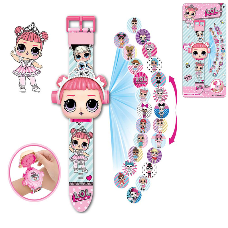 Lol Surprise Dolls Toy 3d Projection Kids Watches Cartoon Action