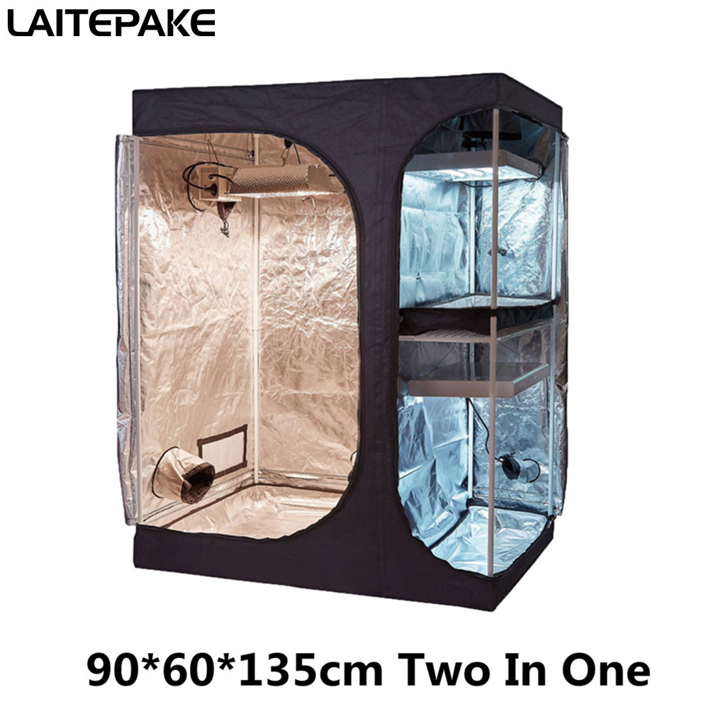 NEW 90x60x135cm Grow Tent Double Layer Two In One Grow Box For Led Grow Light Indoor Hydroponic  Plant Grow Seedling Result