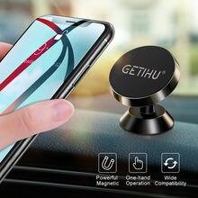 GETIHU-soporte magnético de teléfono móvil para coche, accesorio para Smartphone, GPS, iPhone 12, 11, Xiaomi Mi, Huawei, Samsung S8, LG
