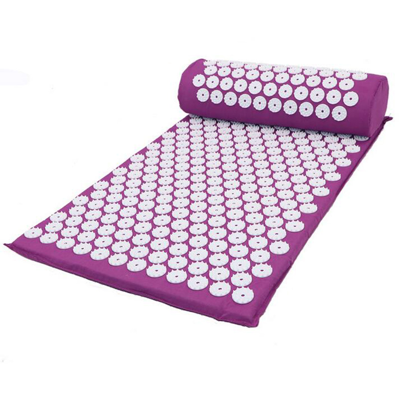 Massager Cushion Acupuncture Mat Relieve Stress Pain Acupressure Mat Pillow Massage Mat Rose Spike Massage and Relaxation-in Massage & Relaxation from Beauty & Health