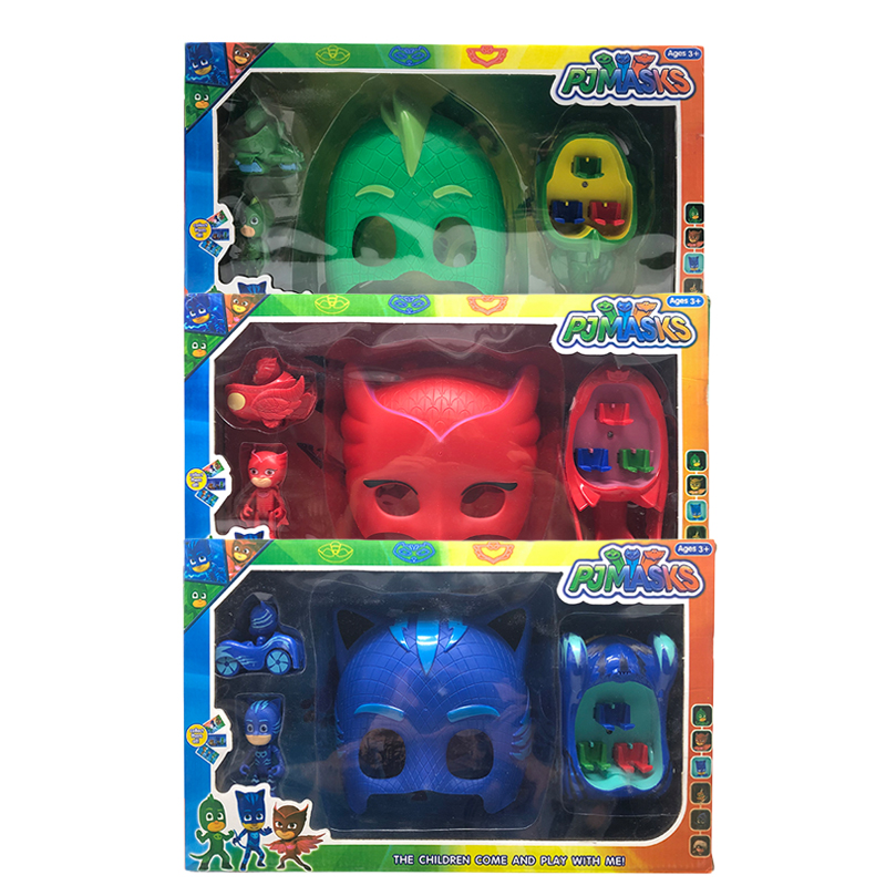 Original PJ Masks Action Figure Toys Set Catboy Owlette Gekko Masks Pj Car Animes Cartoon Figura Birthday Gifts Box For Kids