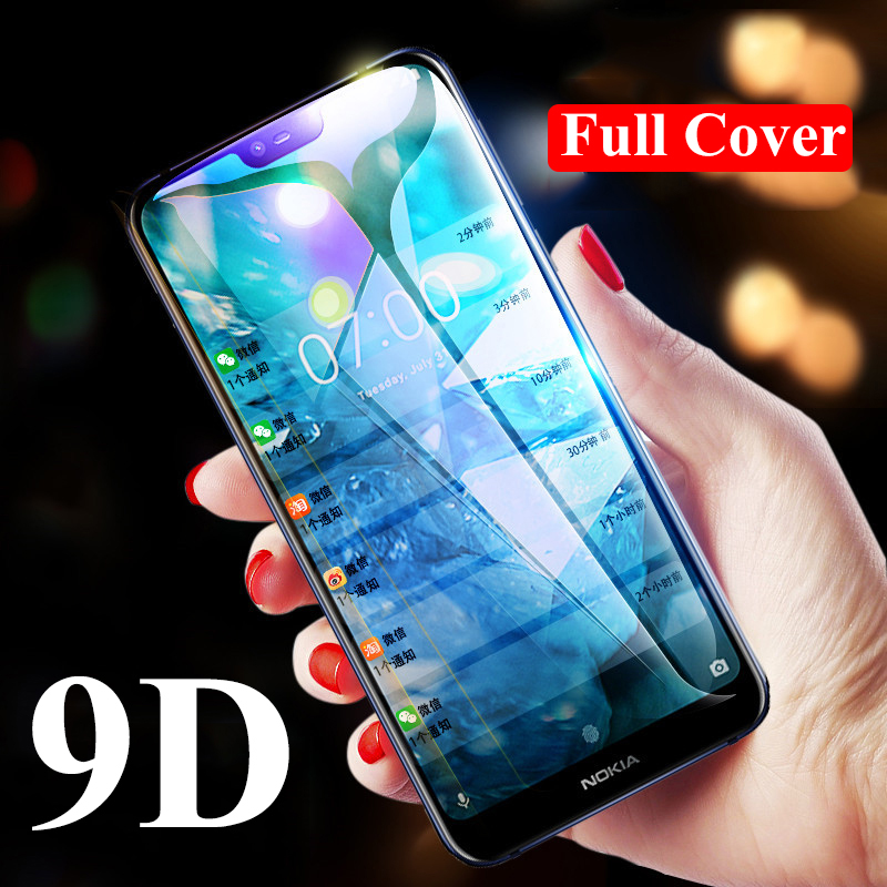 9D Coverage Protective Glass For Nokia 1 Plus 2 2.1 3 3.1 3.2 Full Coverage Tempered Glass For Nokia 4.2 5 5.1 Plus All Glue