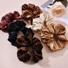 Women Satin Silk Hair Tie Elastic Scrunchies Ponytail Holder Hair Rope Rings New Christmas Hair Accessories