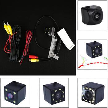 Fisheye Car CCD Night Vision 4 8 12 ledowa kamera wsteczna Parking dla Volkswagen Sagitar 2009 2010 Touran 2013 Passat 2009 tanie i dobre opinie SKYSHADOW Plastikowe + Szkło wireless Drutu Tył ACCESSORIES Z przodu Front Side Pojazd backup kamery Z tworzywa sztucznego