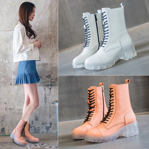 Women Boot Summer 2020 Casual Crystal Bottom Martin Boots Women's Slim British Short Boots Comfortable Breathable Martin Boots