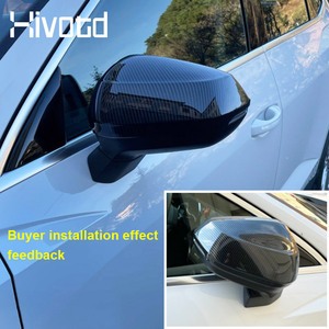 Image 2 - Hivotd For Audi Q3 2020 2019 Car Rearview Mirrors Case Side Wing Mirrors Cover Trim Protection Exterior Modification Accessories