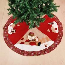 Wystrój bożonarodzeniowy akcesoria rekwizyty 100cm spódniczki na choinkę święty mikołaj Snowman spódnica na dekoracje na choinkę Saia Para Arvore De tanie tanio Spare no effort+ CN (pochodzenie) Tkaniny SDZS264 Christmas Tree Skirt Santa Claus Snowman Christmas Ornaments New Year Decorations