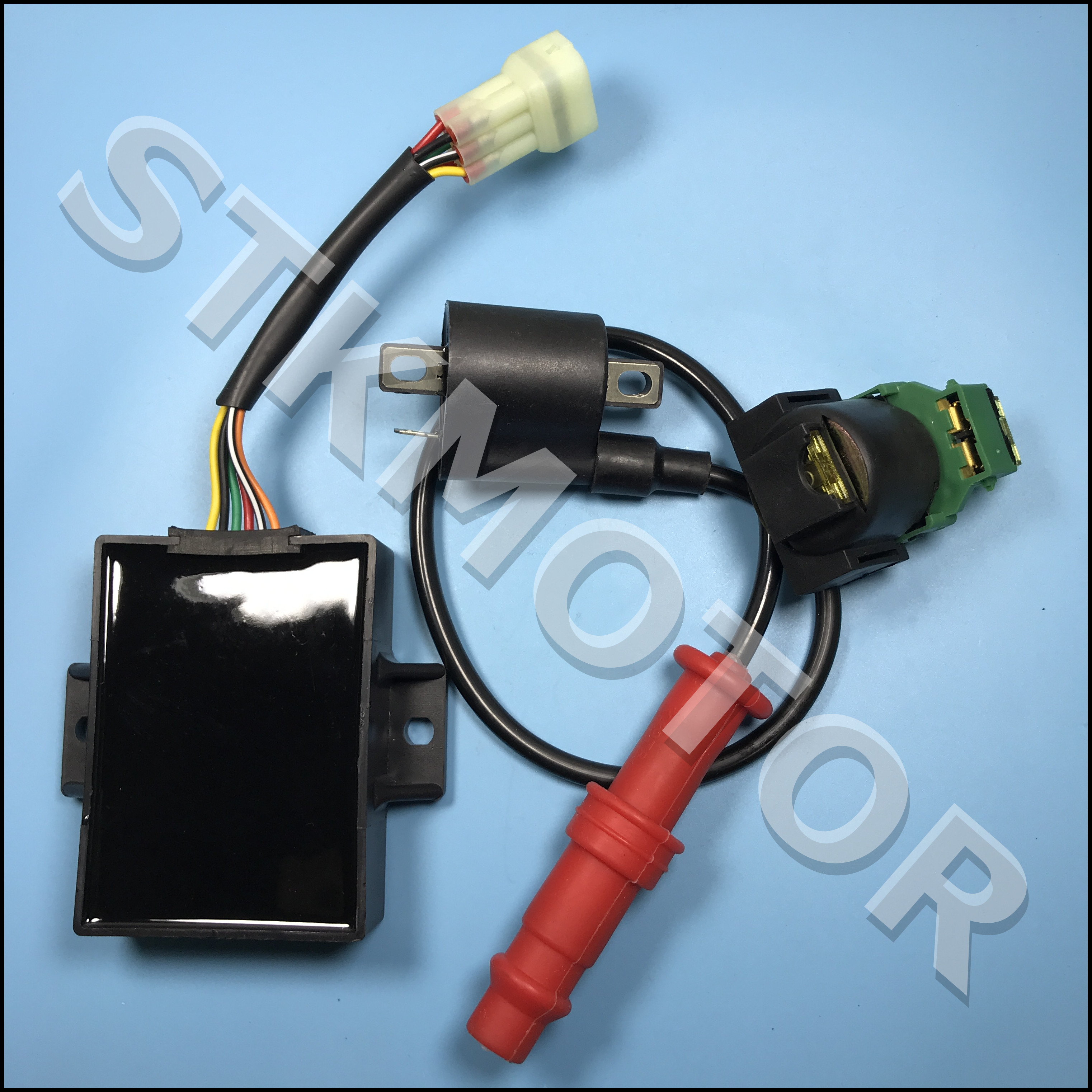 Электромагнитное реле катушки зажигания KAZUMA 500CC 500 ATV и коробка CDI для деталей Jaguar 500cc ATV