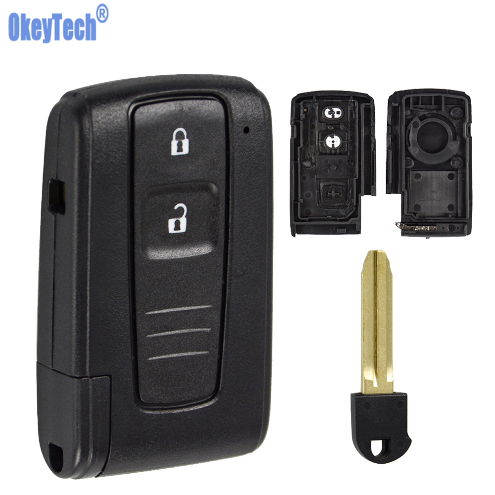 Automobile Locksmith 2 Button Remote Key Shell Keyless Entry Smart Key Fob Case Cover replacement for Toyota Prius Corolla Verso smart key fob