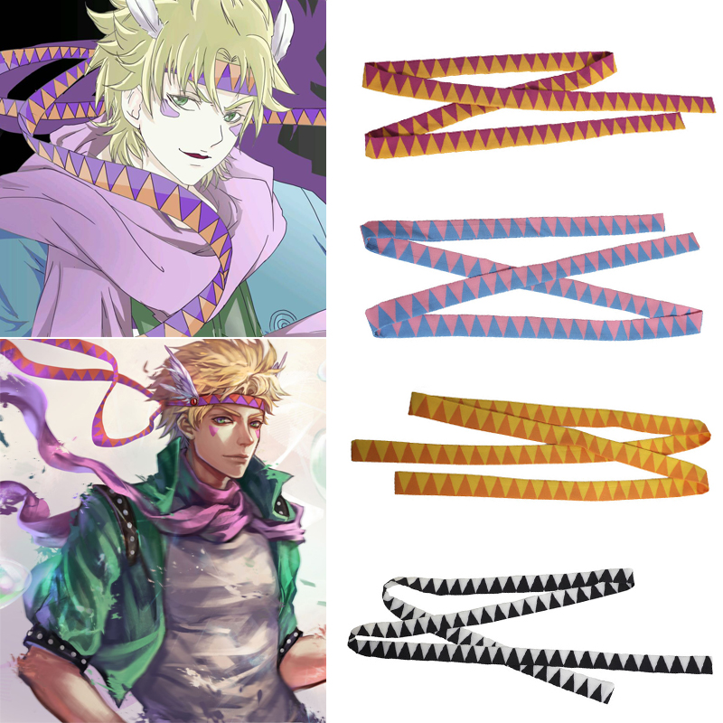 Caesar Anthonio Zeppeli Headwear Cosplay Props Unisex Halloween JoJo's Bizarre Adventure Headband Hair Band