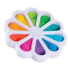 Fidget simples dimple brinquedo flor fidget brinquedos alívio do estresse mão brinquedos educativos cedo para crianças adultos ansiedade autismo brinquedos