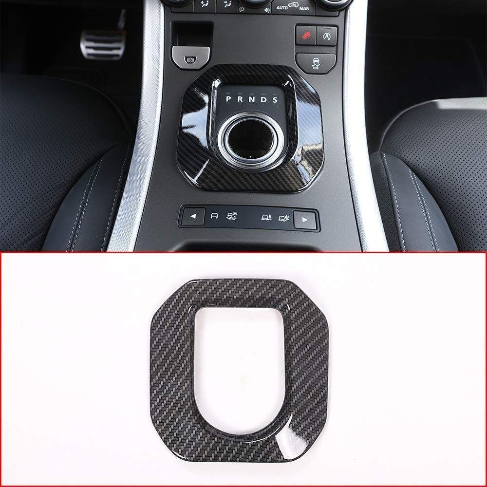 Carbon Fiber Color ABS Gear Shift Panel Cover Trim for Land Rover Range Rover Evoque 2014 2018