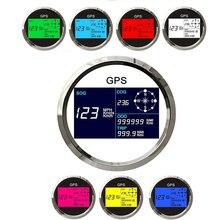 7 renk arkadan aydınlatmalı LCD hız ölçer ölçer 0 ~ 999 MPH knot Km/h ayarlanabilir araba tekne için dijital GPS hız göstergesi göstergesi