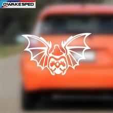цена на 1PCS 15cm Cartoon Bat Graphics Vinyl Decal Car Rear Windshield Decor Sticker Auto Body Tail Bumper Decals Funny Styling