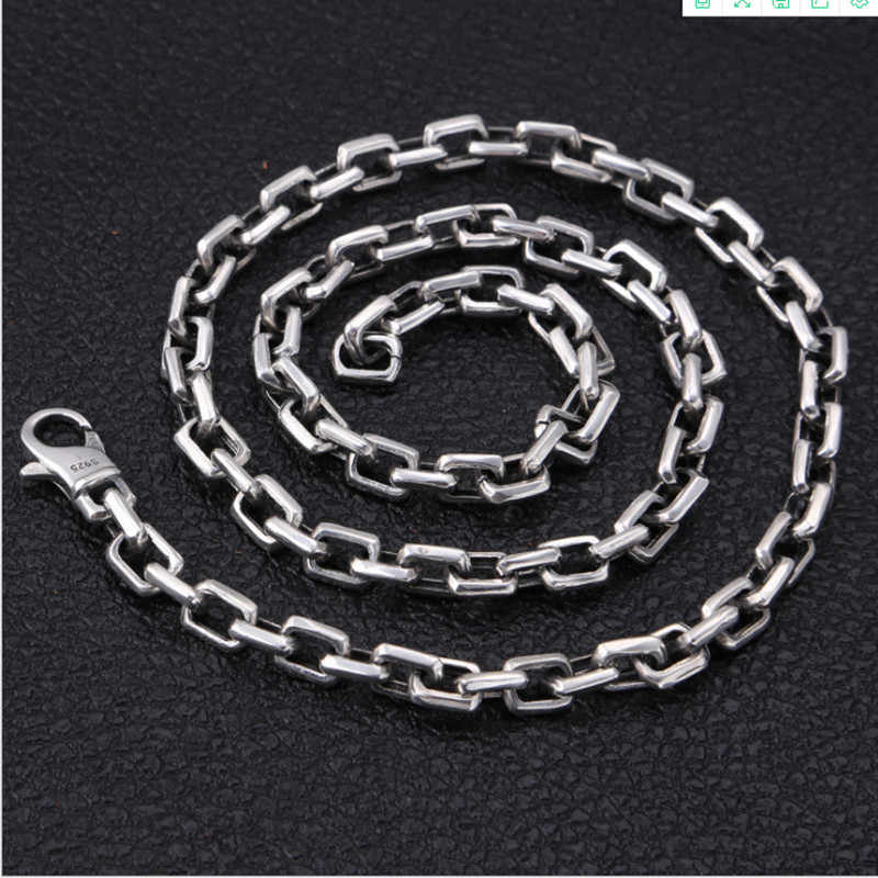 925 sterling silver chain 45cm thicker male chain necklace accessories