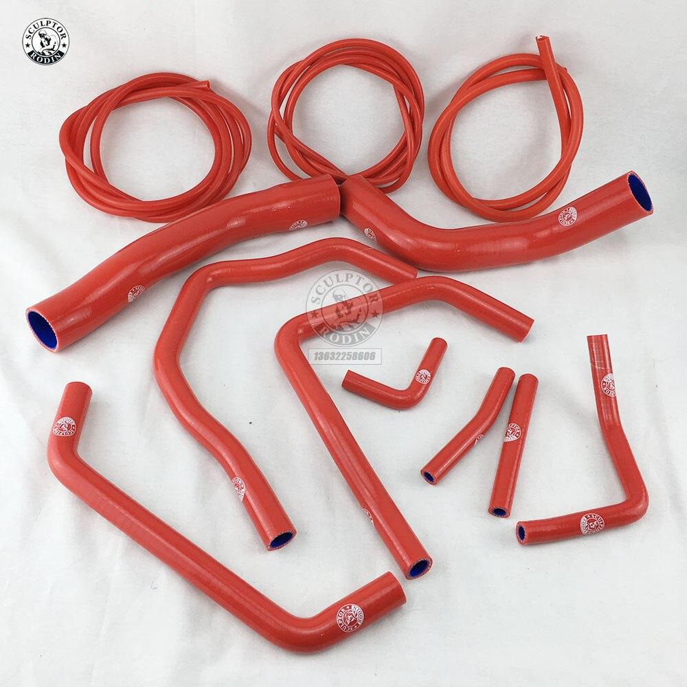 Manguera de radiador de silicona + Kit de manguera de vacío para TOYOTA LAND CRUISER HDJ80 1HD-T/FT 4.2L