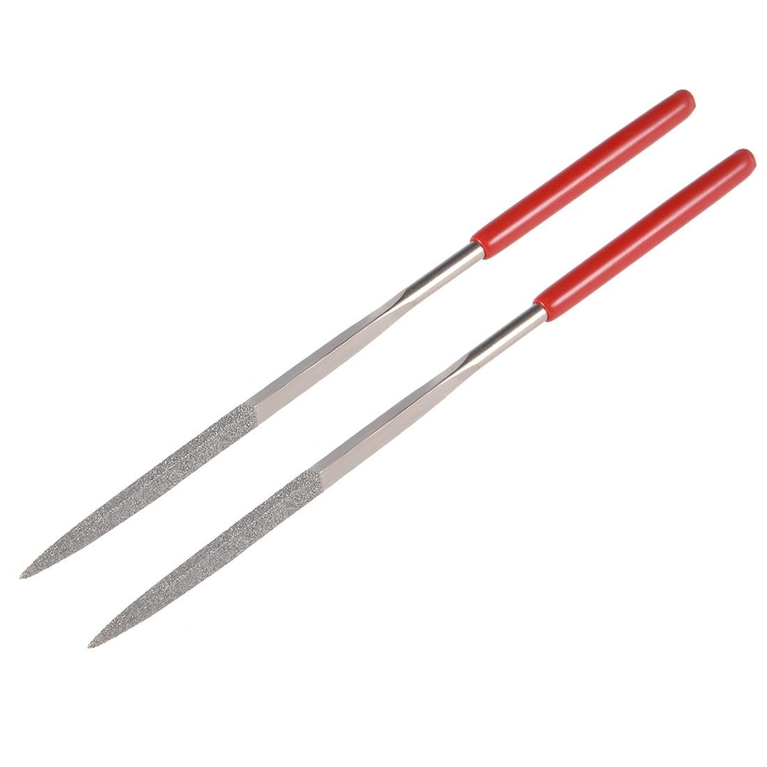 uxcell 5Pcs 3mm x 140mm Square Diamond Needle File 150 Grit