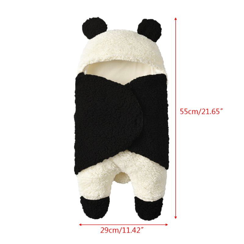Infant Autumn And Winter Plush Swaddle  Baby Cartoon Hug Blanket Sleeping Bag U50F
