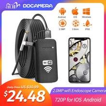 Telecamera per endoscopio wifi 3.9MM 2.0MP più recente IP67 impermeabile 720P HD telecamera per ispezione serpente per Smartphone Android e iOS, Tablet