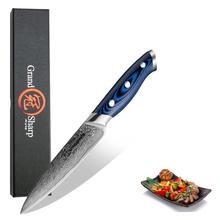 Grandsharp 5 Inch Utility Knife Kitchen Knives Japanese Damascus VG10 Steel Razor Sharp Blade Fruit Cutting Tools G10 Handle cheap Damascus Steel Eco-Friendly Stocked GF-DMS-006D1 CE EU Utility Knives
