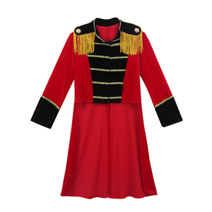 Image 4 - Kids Halloween Long Sleeves Stand Collar Fringes Gold Trimmings Tailcoat Jacket Boys Roleplay Party Ringmaster Circus Costume