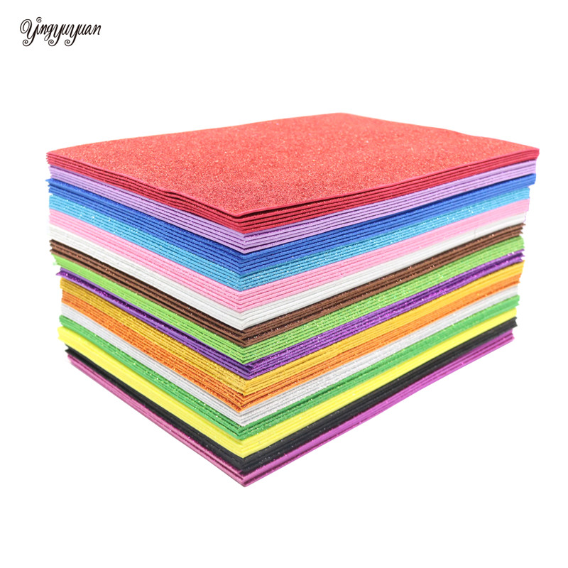5Sheets 20*30cm Glitter Foam Paper Sparkles Paper For Children's Craft Activities DIY Cutters Handcraft Foam Paper Without Glue