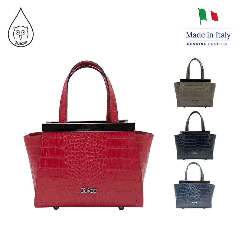 JUICE,made In Italy, Genuine Leather, Women Bag,handbag,Cocco Print Leather, 112166.412