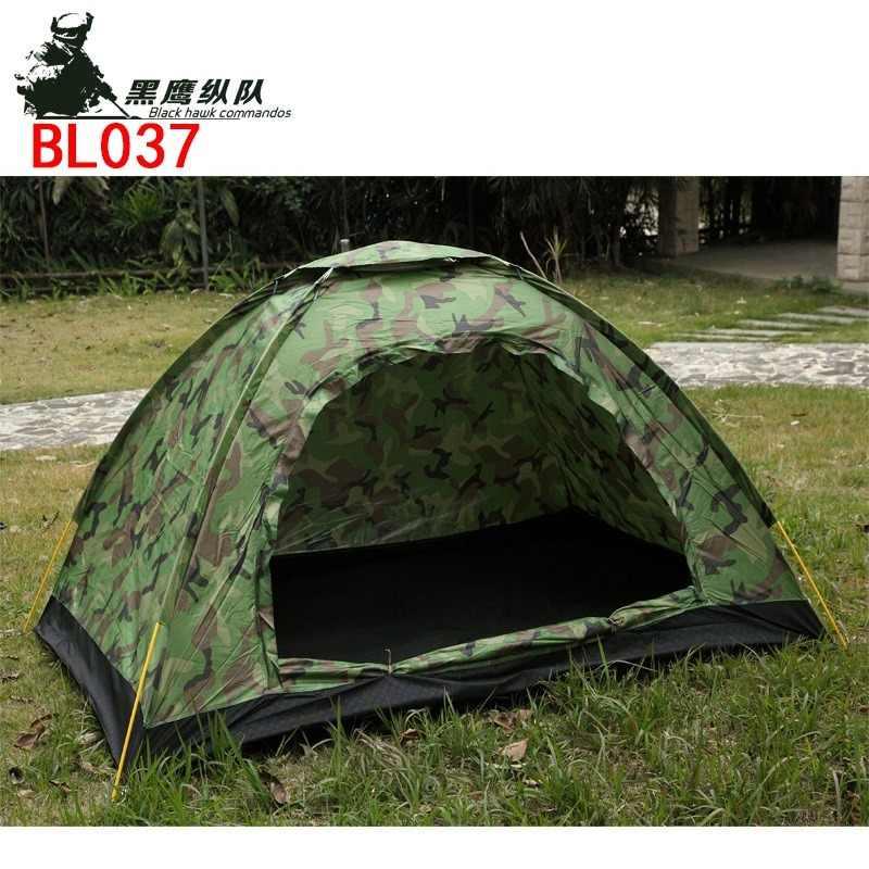 في الهواء الطلق التمويه خيمة السفر التخييم السياحة مقاوم للماء غير نافذ للمطر خفيفة للغاية في الهواء الطلق