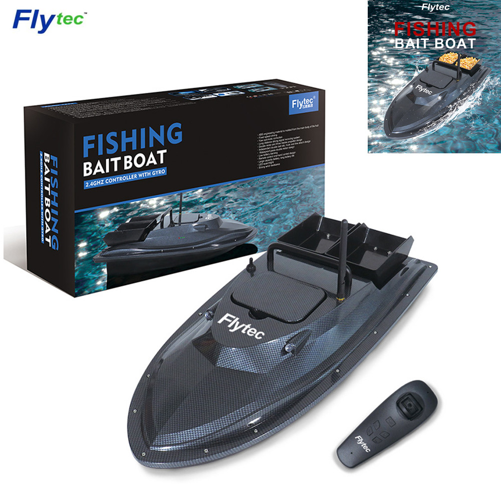 Flytec V007 RC Boat Fishing Boat Outdoor Fixed Speed Ship Strong Wind Resistance with LED Boat Searchlight VS Flytec 2011-5 Boat
