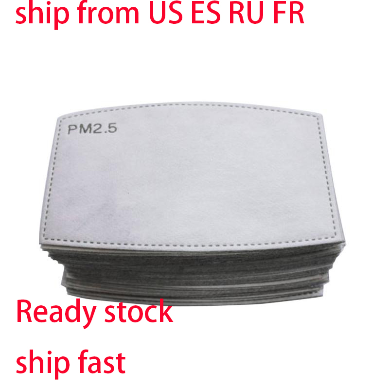 FFP2 10/20PCSAnti Dust Masks Pad PM2.5 Filter Anti Fog And Haze Mouth Mask Activated Carbon Mat Anti-Dust Mask Replacement Pad
