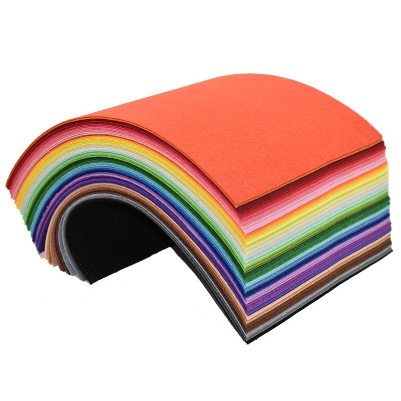 30x30cm Handmade Felt Fabric Diy Craft Feltro Para Artesanato Telas Vilt Feutrine Felt Flowers Balls Felting Wool