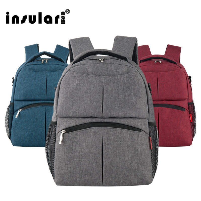 Insular Cotton Linen Multi-functional Mummy Bag Shoulder Maternity Package Backpack Maternal And Child Supplies Shoulder Mommy B