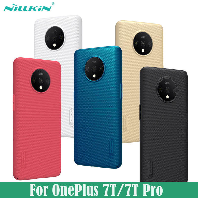 Cover for OnePlus 7T Pro Case Nillkin Super Frosted Shield Hard PC Black Back Cover Phone Protector Case for OnePlus7T
