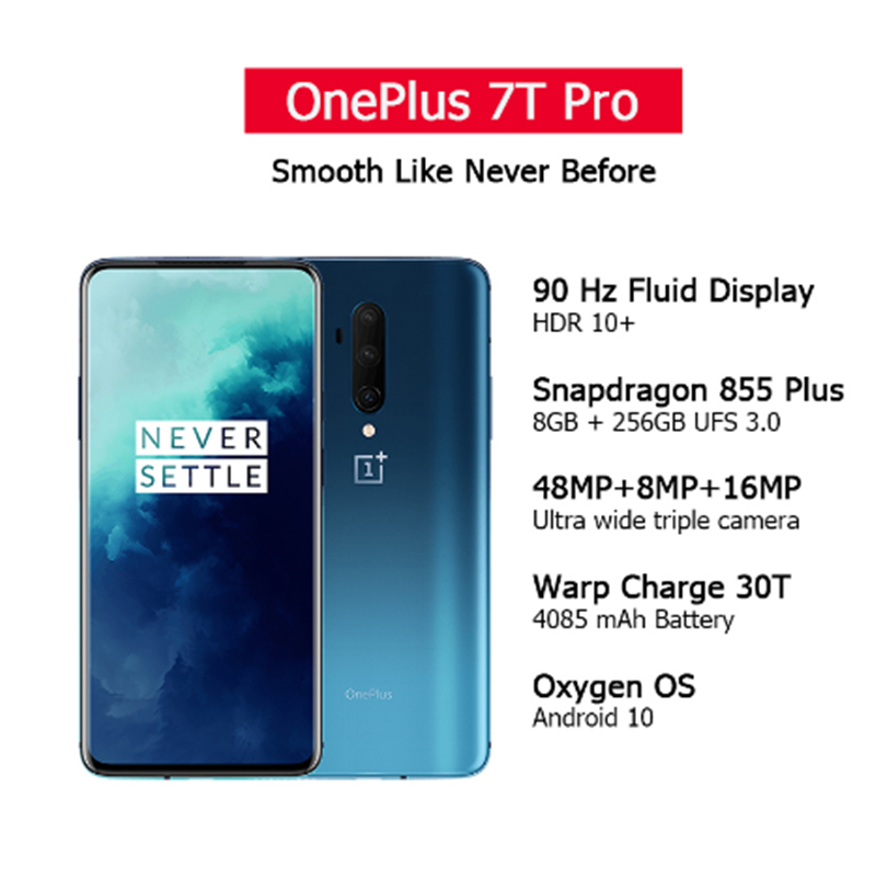 Global ROM OnePlus 7T Pro Snapdragon 855+ 8GB 12GB RAM 256GB 6.67'' AMOLED Screen 90Hz Refresh Rate 48MP Triple Cam 4085mA NFC|Cellphones| - AliExpress