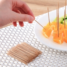 500Pcs Disposable Carbonized Bamboo Toothpicks Double Head Stick with Dispenser H3CF