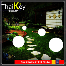 Diameter 25cm LED Round Ball outdoor Night Lights PE Material for Christmas Decoration Free Shipping