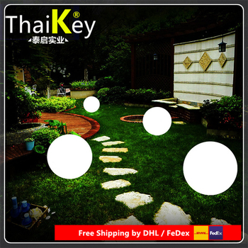 Diameter 25cm LED Round Ball outdoor Night Lights Round LED PE Material Ball for Christmas Decoration Free Shipping