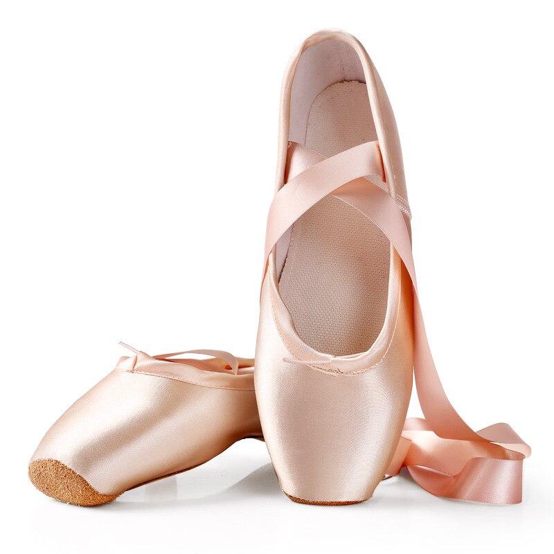 Tamanho 28-43 criança e adulto ballet pointe sapatos de dança profissional ballet sapatos de dança com fitas sapatos mulher zapatos mujer