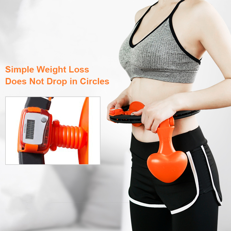 Sports Hoops Yoga Home Fitness Exerciser Hula Circle Not Drop Adjustable Waist Training Ring Belly Abdominal Trainer Weight Loss